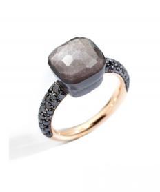 リング ヌード オブシディアン ブラックダイヤモンド